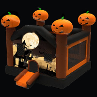 Halloween pumpkin bouncer