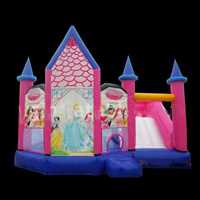 Princess Inflatable Combo Castle