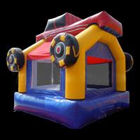 Racing Bounce House Slide Combo