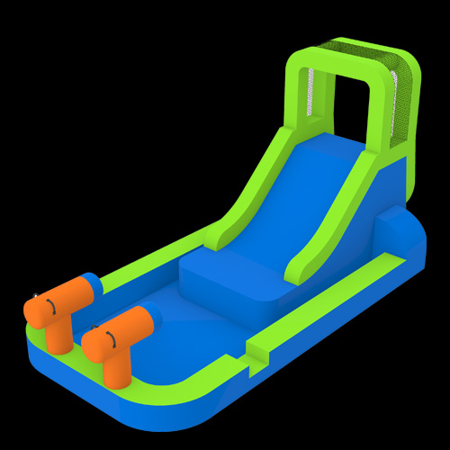 Water-Slide-With-Pool-and-Cannons