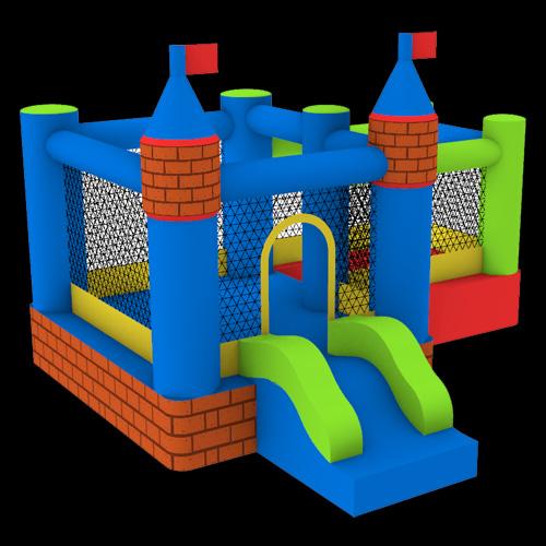 Castle-Bouncer-With-Farmyard-Ballpit