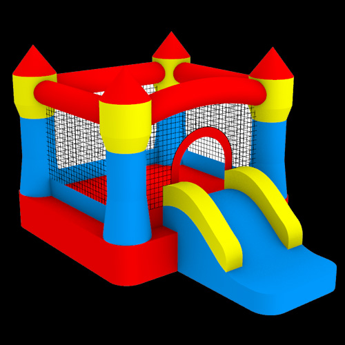 Castle-Bouncer-with-Slide058