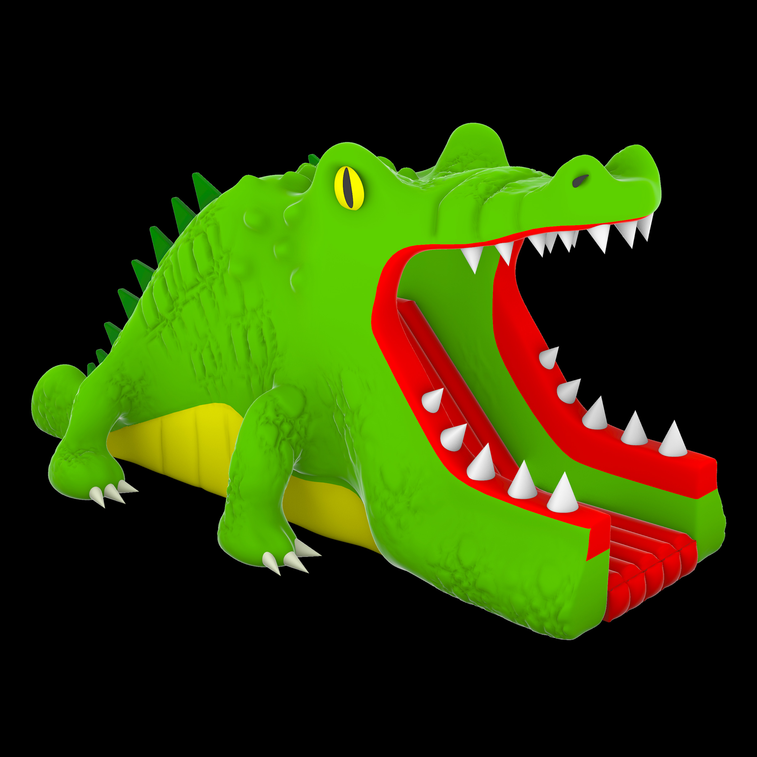 Alligator inflatable water slide