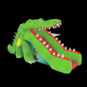 Alligator inflatable slide
