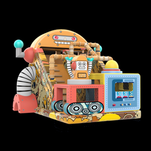 Robot inflatable slide
