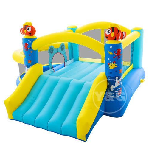 Inflatable ocean slide bounce house