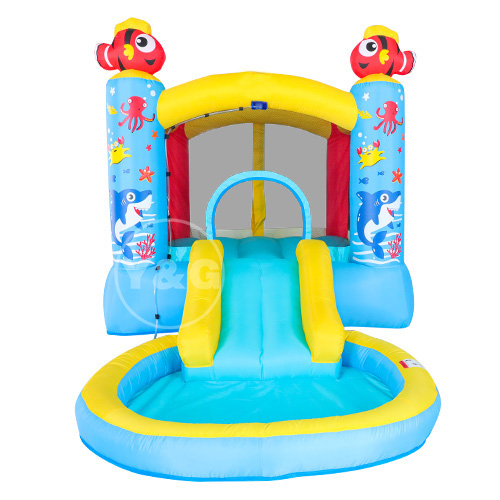 Inflatable ocean pool jumping bed castle