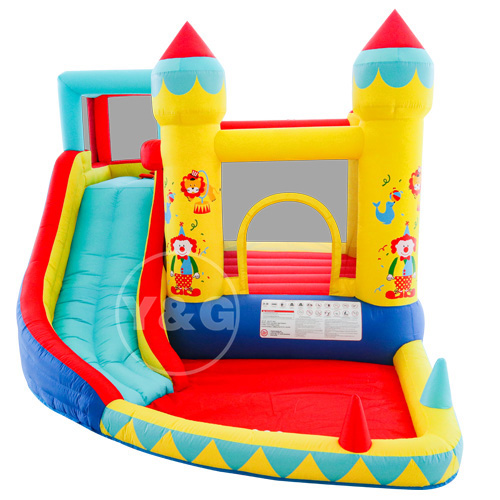 Inflatable clown jumping bed castle