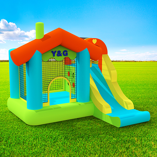 house bouncy castle with slide