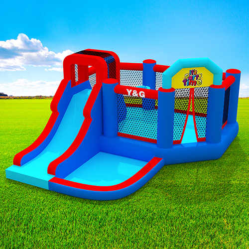Jumping bouncy house with slide&pool