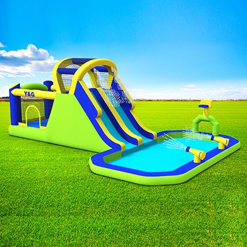 Funny bouncer combo Slide splash pool
