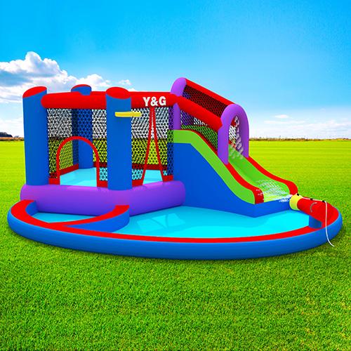 Waterpark combo splash pool playhouse