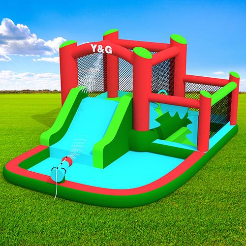 Bouncy house combo slide and pool