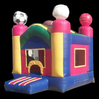 kids bounce house with slide