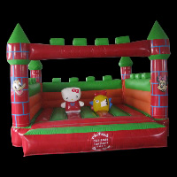 crayon house inflatable bouncerGB396