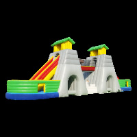 two tunnels inflatable obstacle
