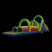Inflatable obstacle courses with bouncer