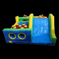 Bounce House Obstacle Course Race