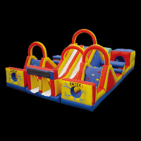 dual lane inflatable obstacleGE054