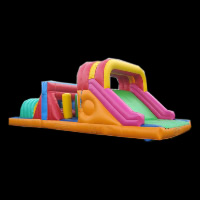 bright color inflatable obstacleGE063