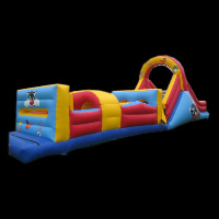 tropical Inflatable Obstacle Course