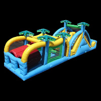 primitive forest inflatable obstaclesGE132