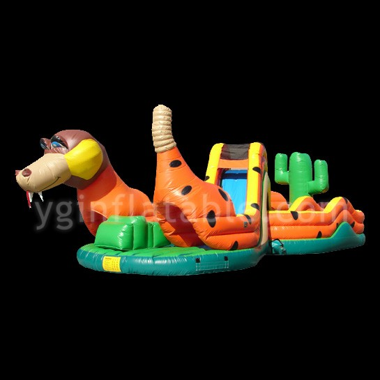 dotted dog inflatable obstaclesGE135