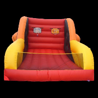 red inflatable slide