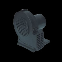 1HP black air blower