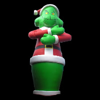 Cool man inflatable christmas