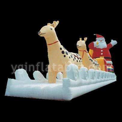 Deer and Santa inflatable christmasGM009
