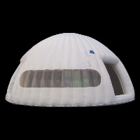 sky white dome inflatable tentGN010