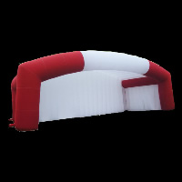 red cover 4 man inflatable tent