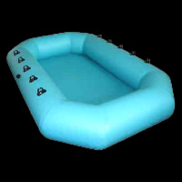 boat shape inflatable poolGP009