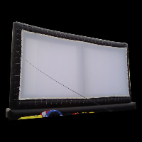 Wide size inflatable screen