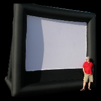 Outdoors inflatable screen