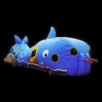 Sharp crocodile teeth inflatable tunnels