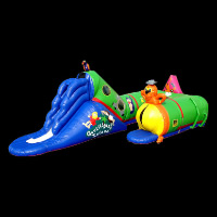 Seven color pest inflatable tunnelsGU014